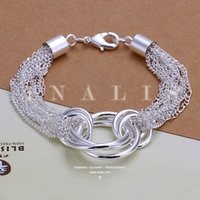 article links - 10pcs Christmas gift Beautiful popular adorn article Trend of fashion jewelry silver plated H299