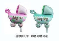 baby shower toys - Baby Shower Foil Balloons Large Size Baby Carriage Foil Balloons Cute Kids Balloon Toys Gifts Birthday Party Decoration Inflatable Balloons