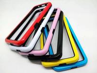Wholesale For Samsung Galaxy S6 SVI Frame bumper Skin Cover case plastic hard soft TPU PC two color dual tone fashion stylish cases