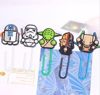Wholesale Stars War Clips Fashon New Hot Sale Star Wards Solider Yoda different Character Clips Files Paper Book Mark Bookmark D6213