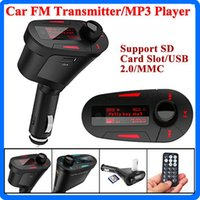 Wholesale Car Wireless FM Modulator MP3 Player Wireless FM Transmitter Modulator With USB SD LCD With Remote Car MP3 Player