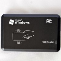 Wholesale USB Proximity RFID Smart M1 IC Card Reader MHZ only Read with D10H Format For ISO14443 Cards M1 Card