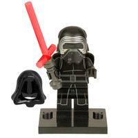 Wholesale STAR WARS Kylo Ren SNOW TROOPER Officer Clone War Yoda The Force Awakens Minifigures Assemble Building Blocks Kids Toy Gift