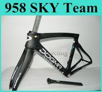 Wholesale 2014 New Pinarello dogma Carbon Road Frame Road Bicycle Pinarello Sky Team Bicycle Frame Black Blue Color carbon fiber road bike frames