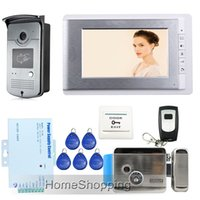 video door entry system - Brand New Wired inch Video Door Phone Intercom Entry System RFID Access Camera Electric Control Door Lock