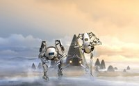 animals atlas - portal robots atlas mecha body Home Decoration Canvas Poster Print x36 inch Silk Poster wall decor