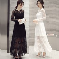 beautiful unique prom dresses - Unique Lace Evening Dresses Hollow Long sleeves Sexy Summer Applique Formal Party Gowns Hot Sale Beautiful Prom gowns DZ