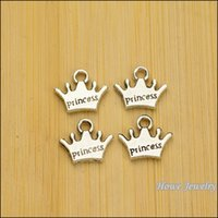 antique english jewelry - Charms Antique Plated Silver Zinc Alloy Crown English letters Fit Pendant Bracelet Necklace DIY Jewelry mm