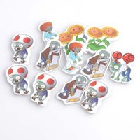 Wholesale Mixed Zombies and Plants wooden Scrapbooking Carft for Home decoration x32mm XD0318