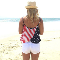 american flag singlet - fashion summer style sleeveless crop tops women s sexy strappy halter tanks loose singlet american flag bralette