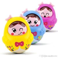 Wholesale 2015 hot sale Developmental Baby Kids puzzle early learning tumbler toy Infant children s toys nodding doll tumbler