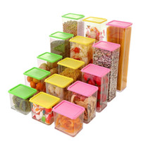 Wholesale Grains can be superimposed with a lid plastic kitchen storage jar sealed cans of food storage crisper