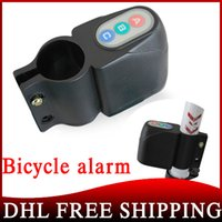 Wholesale 300pcs Bike Motorbike Alarm Security Bicycle Steal Lock Moped Bike Black Without Retail Packag