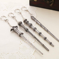Wholesale Harry Potter Hermione Dumbledore Voldemort Magic Wand Pendant Necklace and Keychain in stock