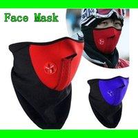 Wholesale 2015 Sports Ski Snowboard Motorcycle Fleece Half Face Mask Motocross Helmet Winter Hood Windproof Bicyle Cycling Cap Headwear