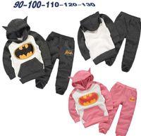 batman hoodies for kids - Batman Cartoon Boys Girls Long Sleeve Hoodie Sweatershirt Loose Pants Set Outfits Spring Autumn for Kids Pink Grey K5770