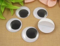 Wholesale 12pcs mm Toy accessory Round wiggly googly eyes with self adhesive