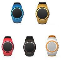 apple sound cards - B20 Bluetooth Mini Speaker Watch Style Portable Music Player with FM Radio Handsfree Mic Selfie Shutter Phone Anti lost Speakers