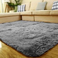 acrylic floor mats - Long Fluffy Anti skid Shag Area Rug Home Kids Bedroom Living Room Floor Mats Door Mat x120cm