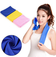 Wholesale Creative Cold Towel Ice Towel Exercise Sweat Summer Sports Ice Cool Towel Hypothermia Cooling Towel cm for Children Adult Free DHL
