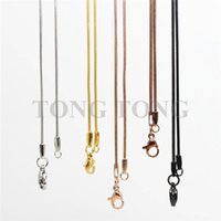 Wholesale 20 cm L stainless steel snake chain for floating locket floating charm locket pendant necklace