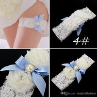 Feminine wholesale lace ribbon - Freeshipping White Bride Hen Hot sale Wedding bridal Garter Sexy Lace Garter Crystals Bow Sheer Vintage Bridal Garters