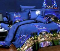 Wholesale Paris eiffel tower bedding set sheet queen size full double quilt duvet cover bedspreads bed in a bag bedset bedroom linen western