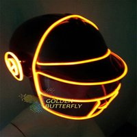 Wholesale EL Wire Motorcycle Helmets Customized Luminous EL Motorcycle Helmets for Men and Women PVC Material Smooth and Flash Modes