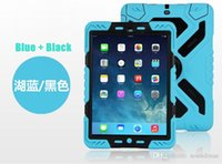 Wholesale 2015 New PEPKOO high quality shockproof waterproof dirt proof stand silicon shell cover case protector for ipad air ipad6