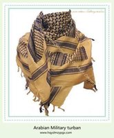 arabian style scarf - hot style pc men Arabian pure cotton military scarf online superior qualtiy cheap price HQ0129