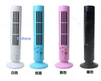 Wholesale Mini USB Bladeless table portable cooling Fan Tower Shaped Desktop Cooler Fan Cool Gadget For PC User Office Worker LLFA2251F