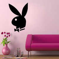 art room supplies - bunny sexy vinyl wall quote art decals home decoration removable wall stickers kids room decoration event party supplies