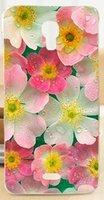 beautiful black skin - Skin Shell For Explay Vega Beautiful Flower Design Painted Hard Black Cover Cases Rose Peony Flowers Background Phone Case Bag