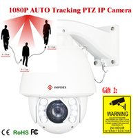auto tracking security camera - 20X Zoom FULL HD P ptz ip camera high speed dome auto tracking with OSD menu security system