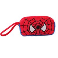 Wholesale free ship baby girl boy teenager Hot sale cartoon character Plush Coin Purse spiderman KT Mickey style Wallet young lady card purses