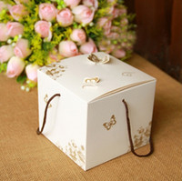 baby food butter - 12 cm Flower Cake Box With Handle Butter White Kraft Design Gift Boxes Packaging Food Baby Shower Birthday Packing
