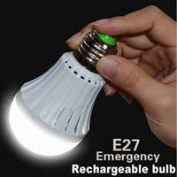 Wholesale NEW LED Intelligent Light Emergency Bulb W W Led Emergency Rechargeable Battery Lights E27 SMD For Home Indoor Lighting