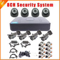 Wholesale Video Surveillance System CCTV CH Full D1 CH P2P HDMI H DVR Security System CMOS TVL IR Camera Kit