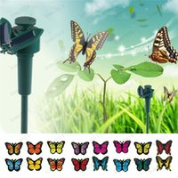 solar hummingbird - Solar Lamps Butterfly dragonfly hummingbird Lawn Lamps Outdoor Stake Color Changing Light Garden Decorations Kids Toy gift