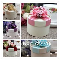 Wholesale 100PCS DESIGN ARTIFICIAL FLOWER PAPER gift box Wedding Favor Boxes party candy box BY EMS