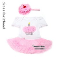 baby clothes cupcakes - 10 OFF new arrival baby girl Cupcake Infant Princess Dress tutu dress lace dress children kids clothing dress hairband l