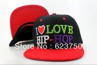 Amo 2013 nueva llegada me HIP-HOP Snapback Sombreros Negro Fashion Street Red Headwear 3 colores envío libre mejores tapas de calidad barato