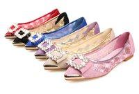 women fashion shoes large size - Women sandals Large size shoes leather flat sandals new summer new diamond tip flat heel women s shoes fashion Lace