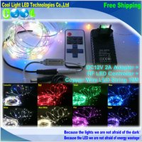 copper wire - 10m12V Waterproof LED Strings ft Copper Wire LED Starry Lights RF LED Controller DC12V A Adapter