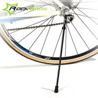Wholesale ROCKBROS Bicycle Kickstand Quick Release Stainless Steel Aluminum Alloy Bike Kick Stand Portable Cycling Side Holder Colors