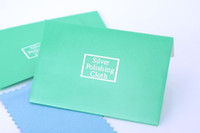 Wholesale Flannelette Silver cleaning cloth silver polishing cloth for sterling silver Jewelry x7cm