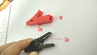 Wholesale 2PCS V Copper mini Alligator clip for mm BANANA PLUG test probe