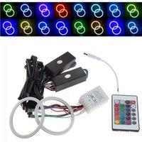 strobe light kit - V V RGB COB LED Flashing Strobe multicolor Angel Eyes Halo Rings Kit Remote mm mm mm mm mm mm mm mm mm