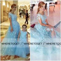 aqua garden - Aqua Capped Sleeve Wedding Dresses Sequin Beaded D Floral Appliques Vintage Lace Tulle Party Gowns Plus Size vestidos de noiva