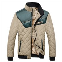 Wholesale Men s Winter Stand Collar Thick Padded Jacket Slim Fit Zip UP New Fashion Short Stylish Pocket Outwear